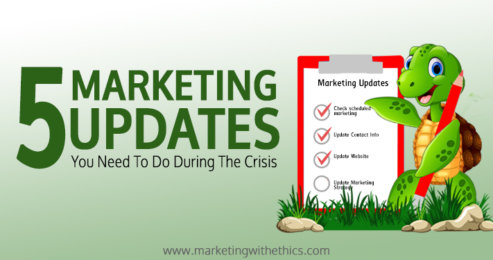 With the COVID-19 pandemic having a global effect, it is easy to get overwhelmed with concerns about the health of yourself and your business. In this article, I share 5 marketing update you NEED to do during the crisis to ensure that your brand doesn't become a victim to the aftermath.