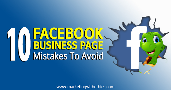 Facebook business page mistakes