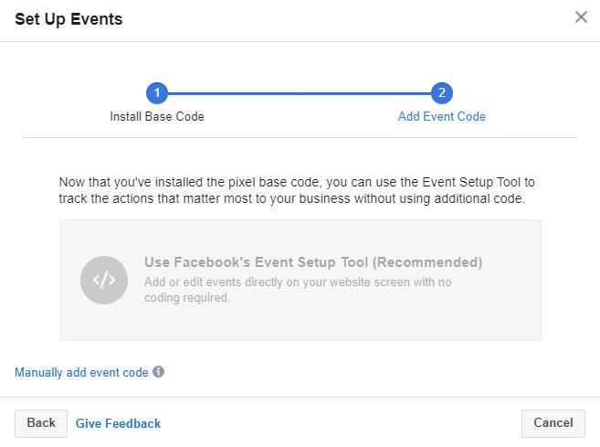 facebook event codes