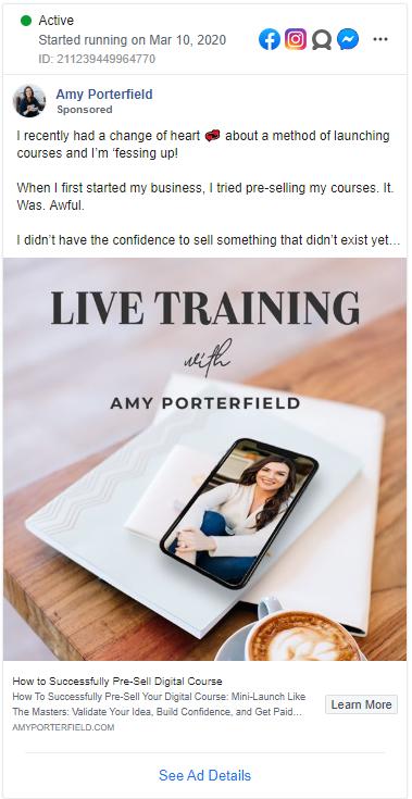 competitors Facebook ads